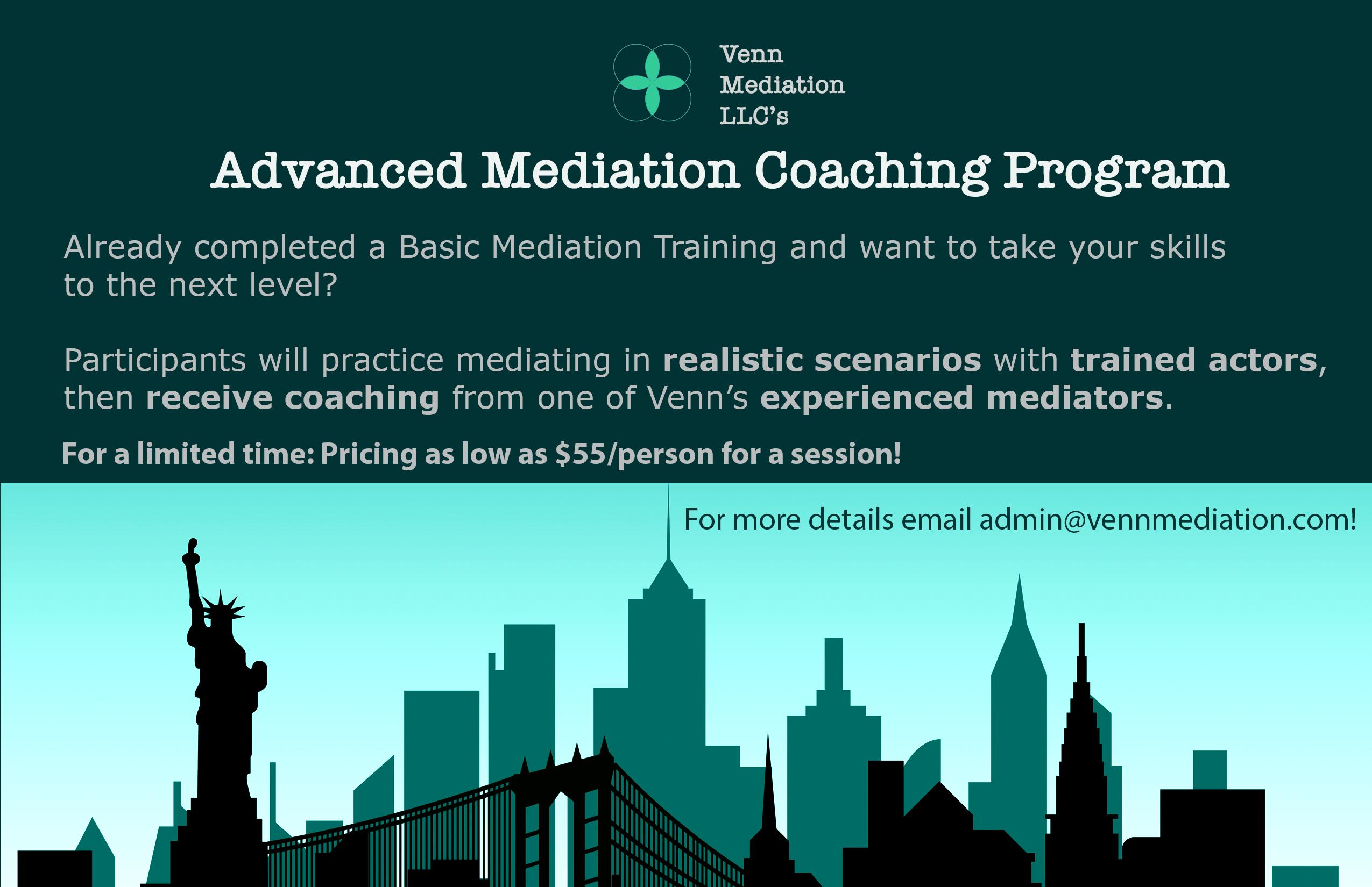 Advanced Mediation Coaching Program (AMCP)